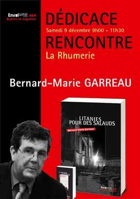 Ddicaces Bernard-Marie Garreau Litanies pour des salauds