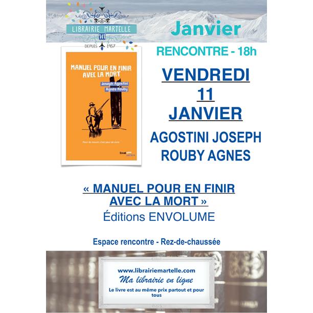 Débat le 11 janvier avec Joseph Agostini à là librairie Martelle à Amiens