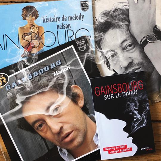 Gainsbourg sur le divan