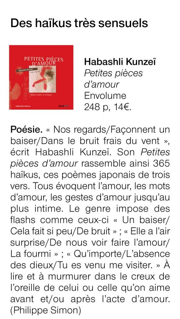 Article Ouest France Petites pièces d'amour