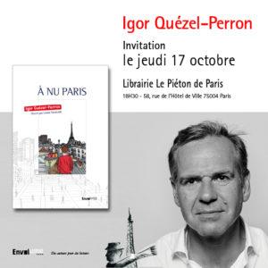 A nu Paris, invitation à la librairie Le piéton de Paris par Igor Quézel-Perron et Envolume